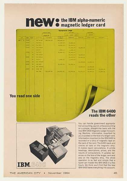 IBM 6400 Magnetic Ledger Accounting Machine (1964)