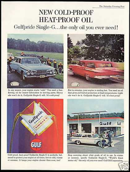 Gulf Gas Station Gulfpride Single G-Oil (1961)