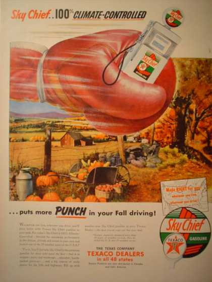 Texaco Sky Chief Gasoline Gas More punch (1953)
