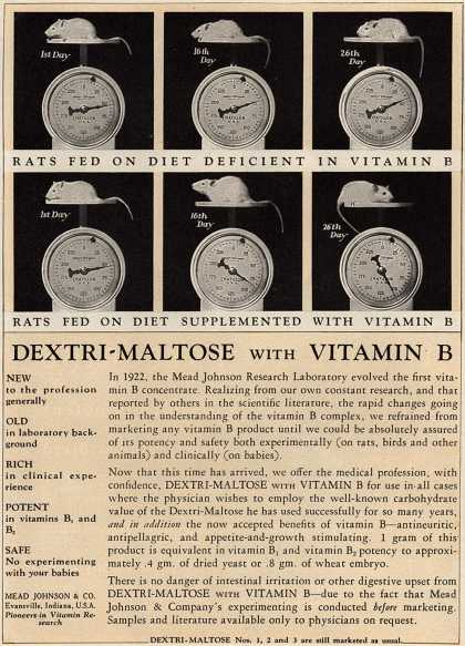 Mead Johnson and Company's Dextri-Maltose – Dextri-Maltose With Vitamin B (1930)