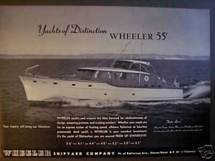Wheeler Yachts of Distinction 55' Boat Photo (1951)