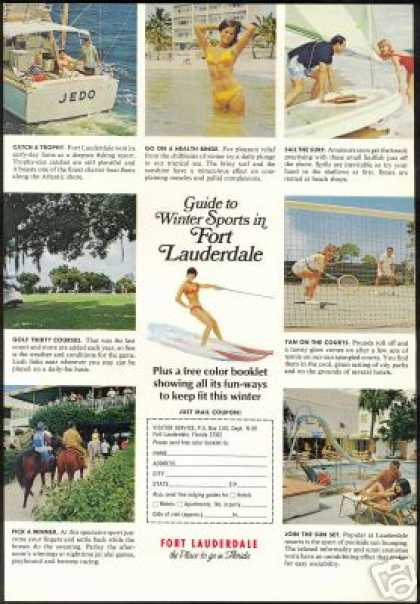 Florida Fort Lauderdale Winter Sports Travel (1971)