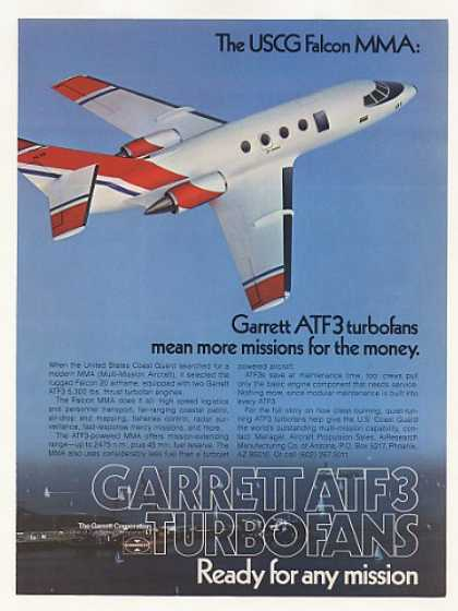 Coast Guard Falcon 20 MMA Aircraft Garrett ATF3 (1977)