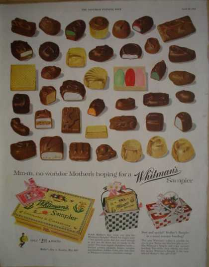 Whitmans Chocolate sampler Mothers day (1955)