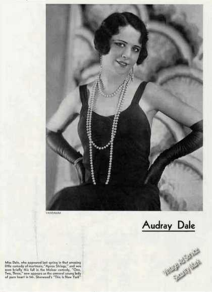 Audray Dale Photo By Vandamm Theater Print Feature (1931)