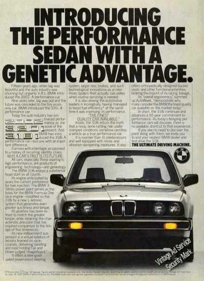 "Bmw 318i ""Performance With a Genetic Advantage"" (1983)"