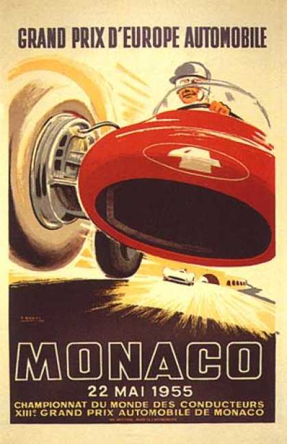 Monaco Grand Prix by J. Ramel (1955)
