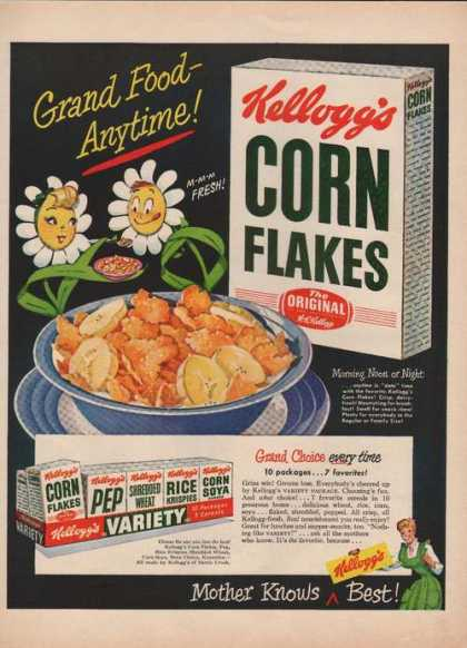 Kelloggs Corn Flakes Cereal (1949)