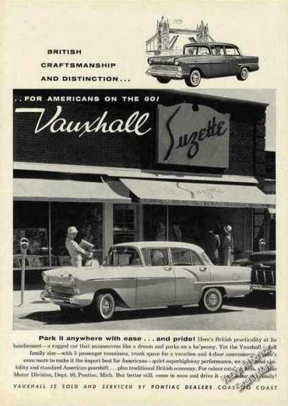Vauxhall Photo Sold By Pontiac Dealers (1958)