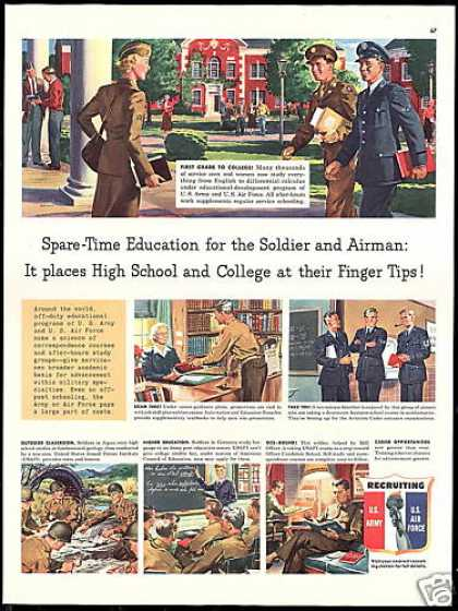 US Army U.S Air Force Recruiting Education (1950)