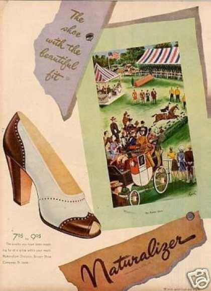 Naturalizer Shoe Ad &quot;The Horse Show&quot; (1947)
