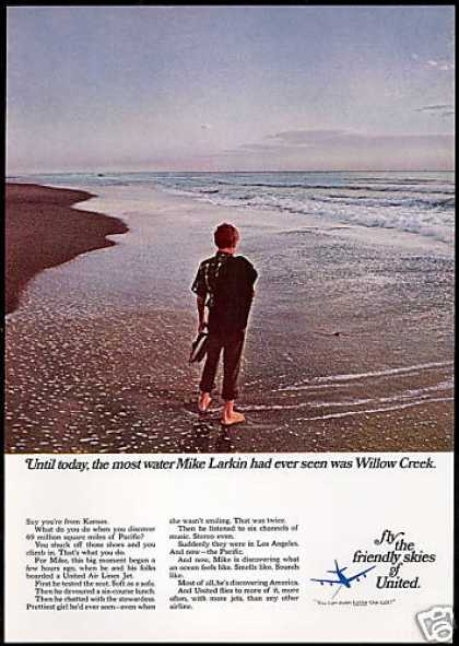 United Airlines Pacific Willow Creek Kansas (1967)