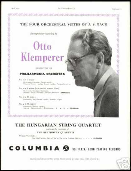 Otto Klemperer Photo Philharmonia Record Promo (1955)