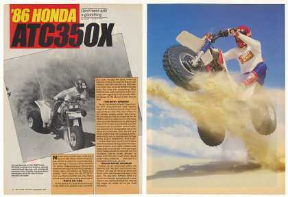 Honda ATC350X ATV 5-Page Photo Article (1986)