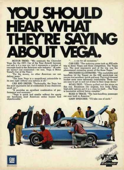 "Chevrolet Vega ""Car of the Year"" (1971)"
