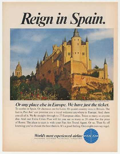 Alcazar Castle Spain Pan Am Airlines Photo (1967)