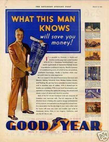 "Goodyear Ad ""What This Man Knows... (1931)"