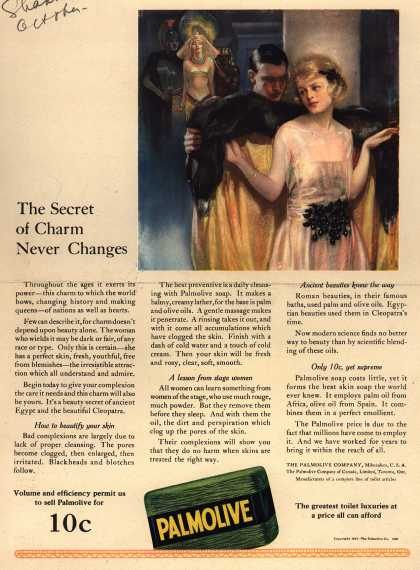 Palmolive Company's Palmolive Soap – The Secret of Charm Never Changes (1921)