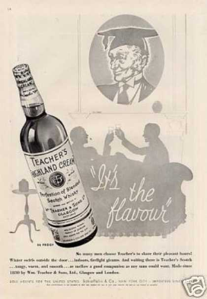 Teacher's Highland Cream Scotch Whisky (1937)