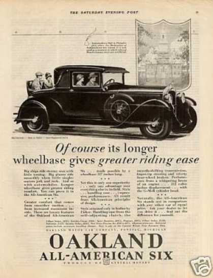 Oakland All-american Six Cabriolet Car (1928)