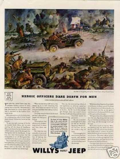 Wwii Willys Jeep Ad Sessions Art (1943)