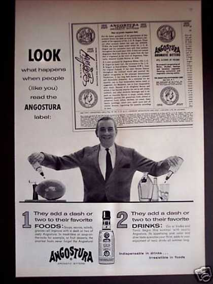 Angostura Aromatic Bitters Food & Drink (1956)