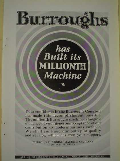 Burrough's Corp 1 Millionth Machine AND Capitol Boilers (1926)