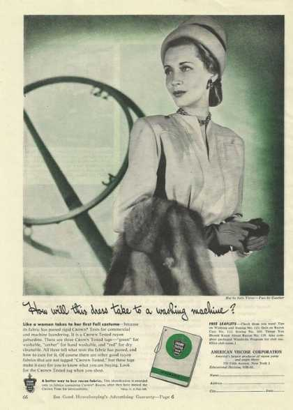 Crown Tested Rayon Fabric (1945)