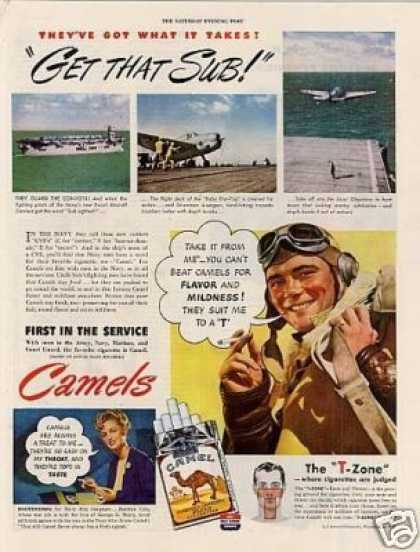 "Camel Cigarettes Ad ""Get That Sub... (1944)"