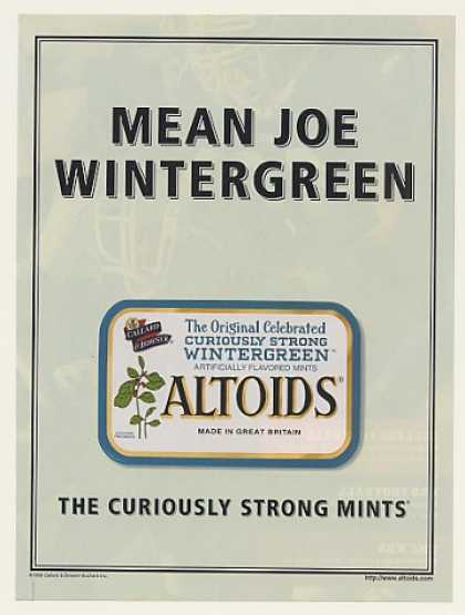 Mean Joe Wintergreen Altoids Mints (1999)