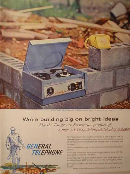 General Telephone Electronic Secretary Phone (1958)