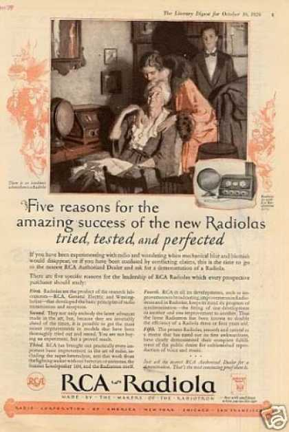 Rca Radiola Radio Color Ad Model 20 (1926)
