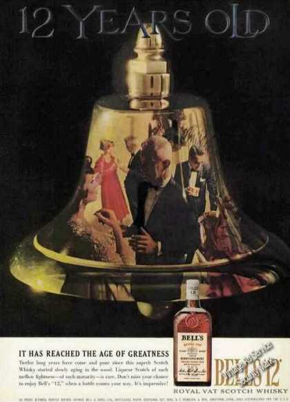 Bell's Scotch Whiskey Age of Greatness (1960)