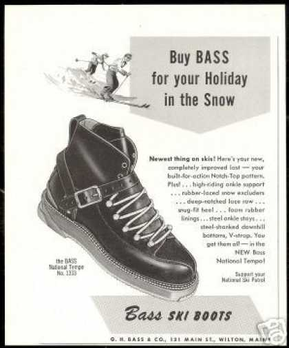 Bass National Tempo Snow Ski Boot Vintage (1953)