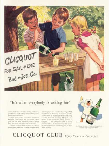 Clicquot Club Drink Ginger Ale Kids Stand (1942)