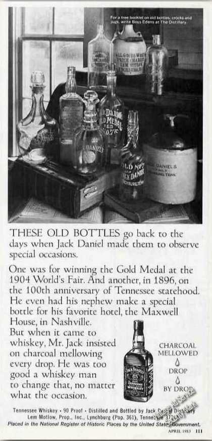 Jack Daniel's Tennessee Whiskey Old Bottles (1983)