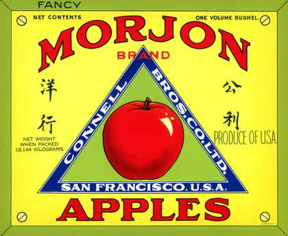 Morjon Fancy Apples, c. s (1930)