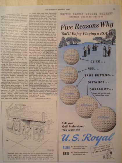 US Royal Golf Ball Balls (1947)