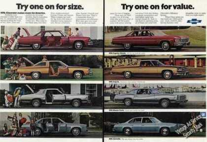Chevrolet Eight (8) Color Photos 2 Page (1976)