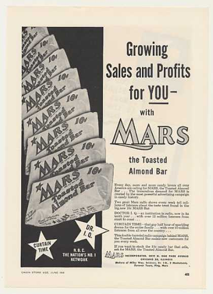 Mars Toasted Almond Candy Bar (1948)