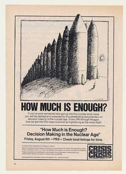 Nuclear Arms Tom Durfee art PBS TV (1982)