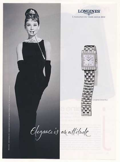 Audrey Hepburn Longines Dolce Vita Watch Photo (2001)