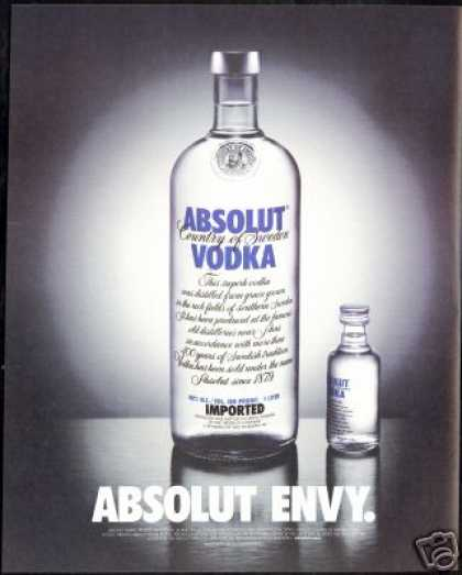 Absolut Envy Vodka Bottle Photo (2003)