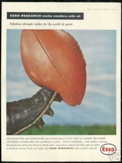 All American Kicks Football Photo Vintage Esso (1956)