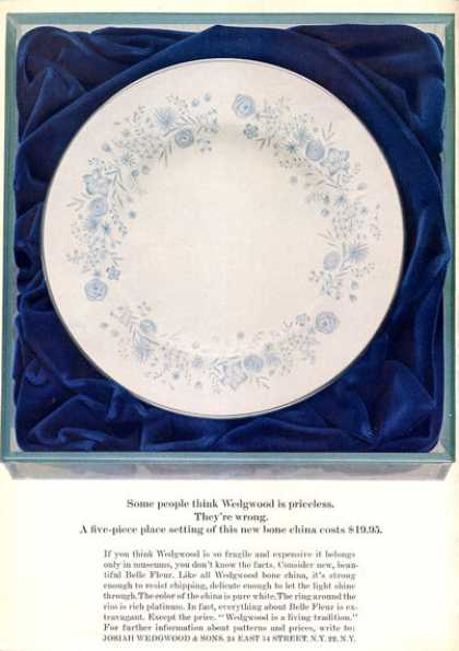 Wedgwood Belle Fleur Bone China (1963)