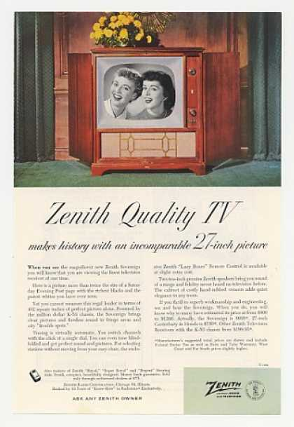 Zenith Quality TV Sovereign Television (1952)