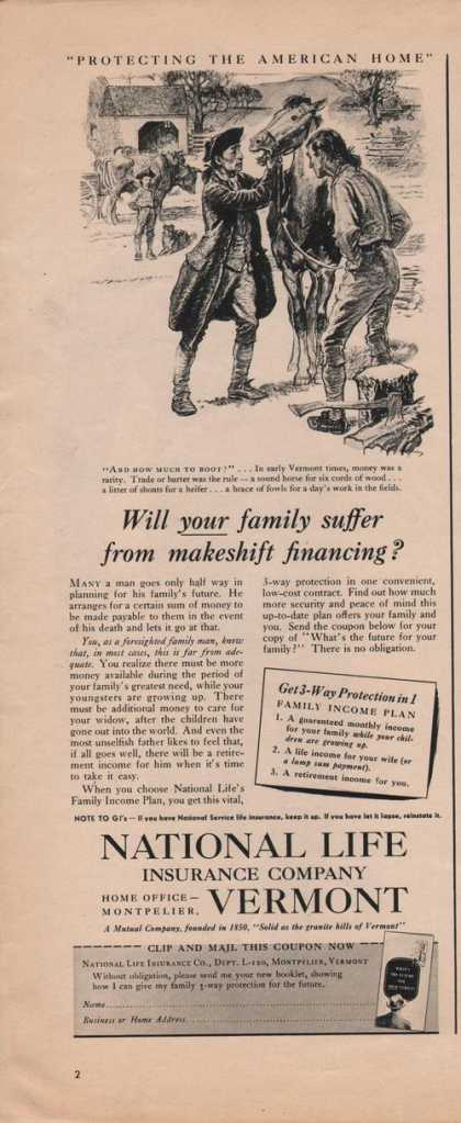National Life Insurance Co Vermont (1942)