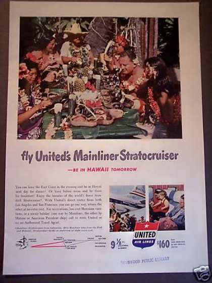 United Airline Stratocruiser Hawaii Luau (1951)
