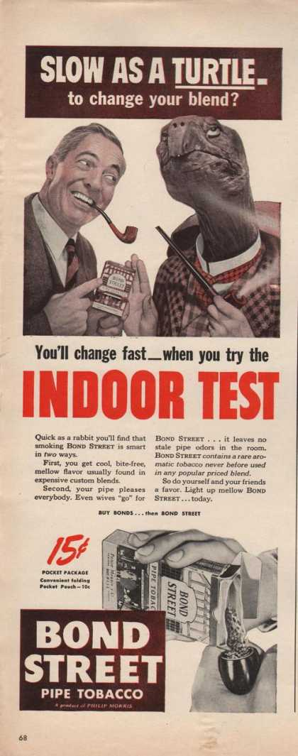 Bond Street Pipe Tobacco Indoor Test Print (1942)