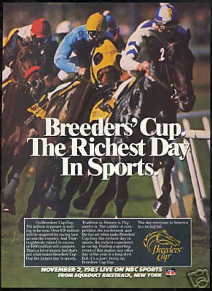 Breeders Cup Aqueduct Horse Racetrack New York (1985)